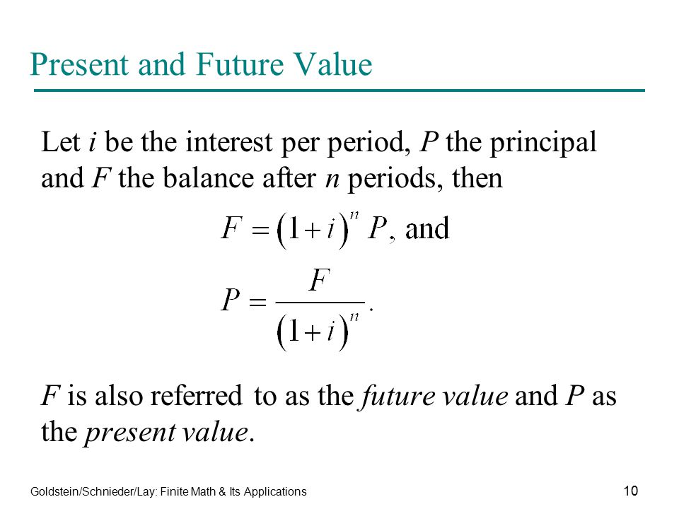 Present and Future Value