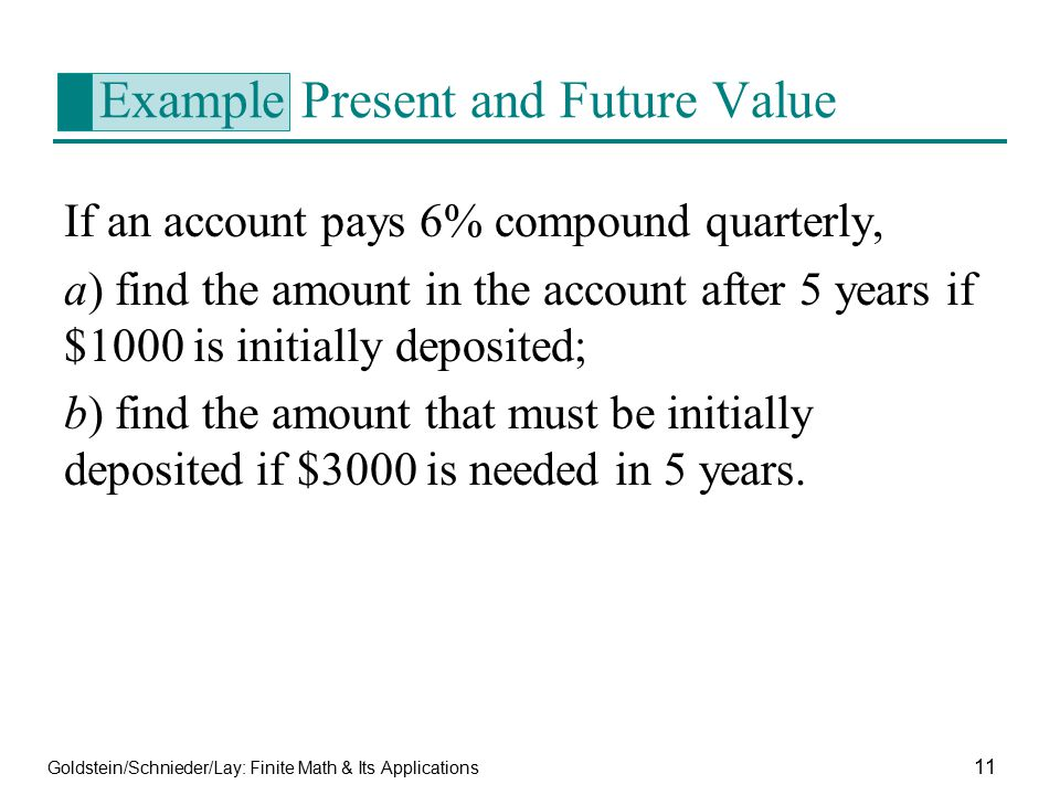 Example Present and Future Value