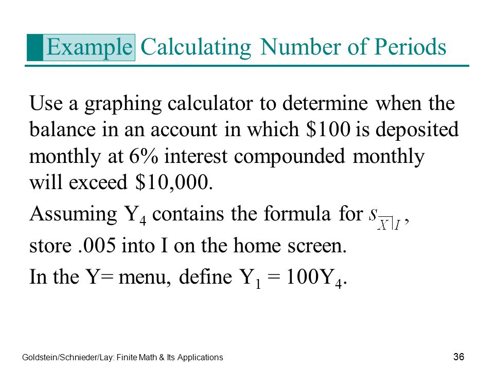 Example Calculating Number of Periods