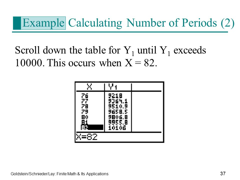 Example Calculating Number of Periods (2)