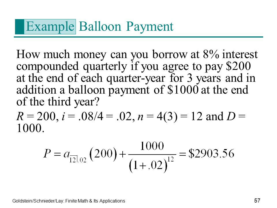 Example Balloon Payment