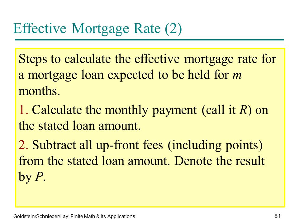 Effective Mortgage Rate (2)