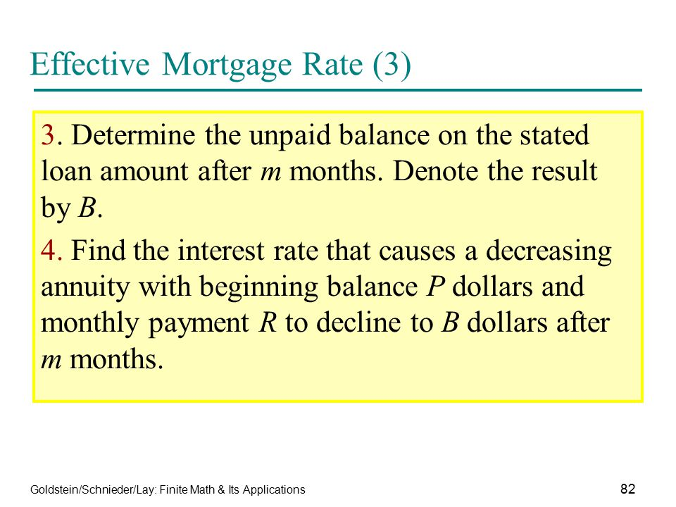 Effective Mortgage Rate (3)