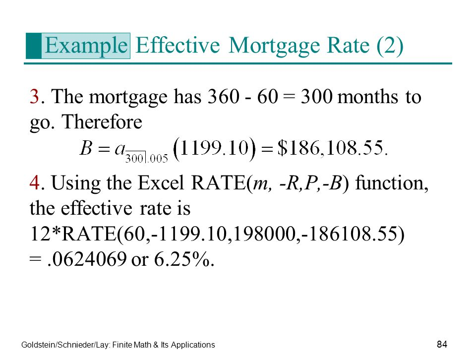Example Effective Mortgage Rate (2)