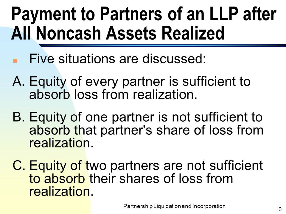 Payment to Partners of an LLP after All Noncash Assets Realized