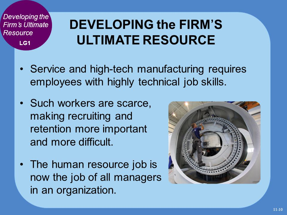 DEVELOPING the FIRM'S ULTIMATE RESOURCE