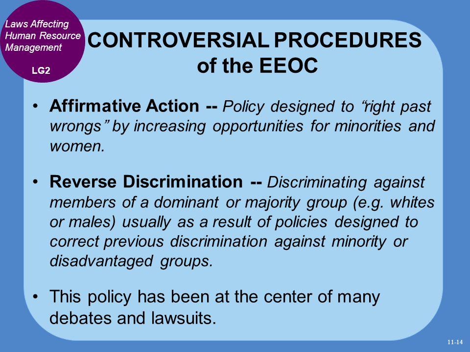CONTROVERSIAL PROCEDURES of the EEOC