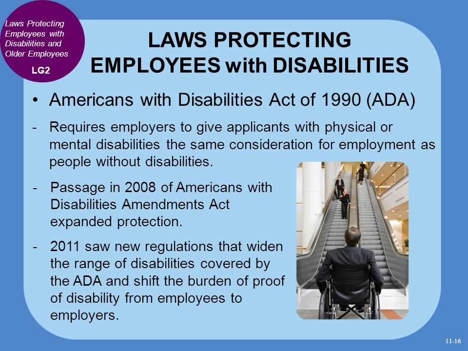 LAWS PROTECTING EMPLOYEES with DISABILITIES