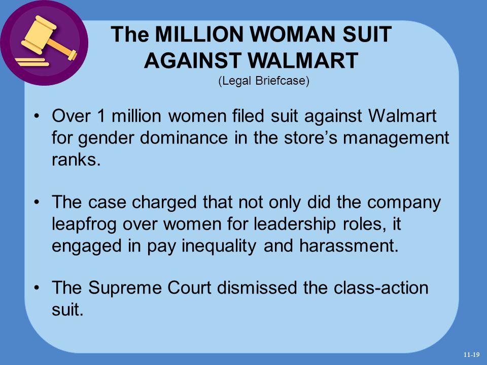 The MILLION WOMAN SUIT AGAINST WALMART (Legal Briefcase)