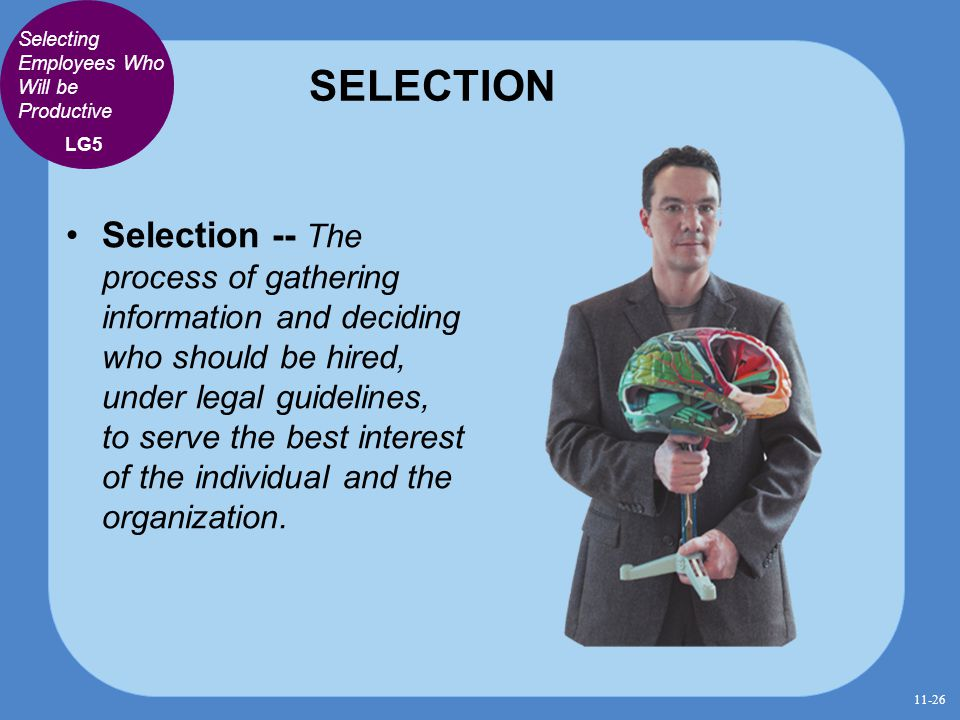SELECTION Selecting Employees Who Will be Productive. LG5.