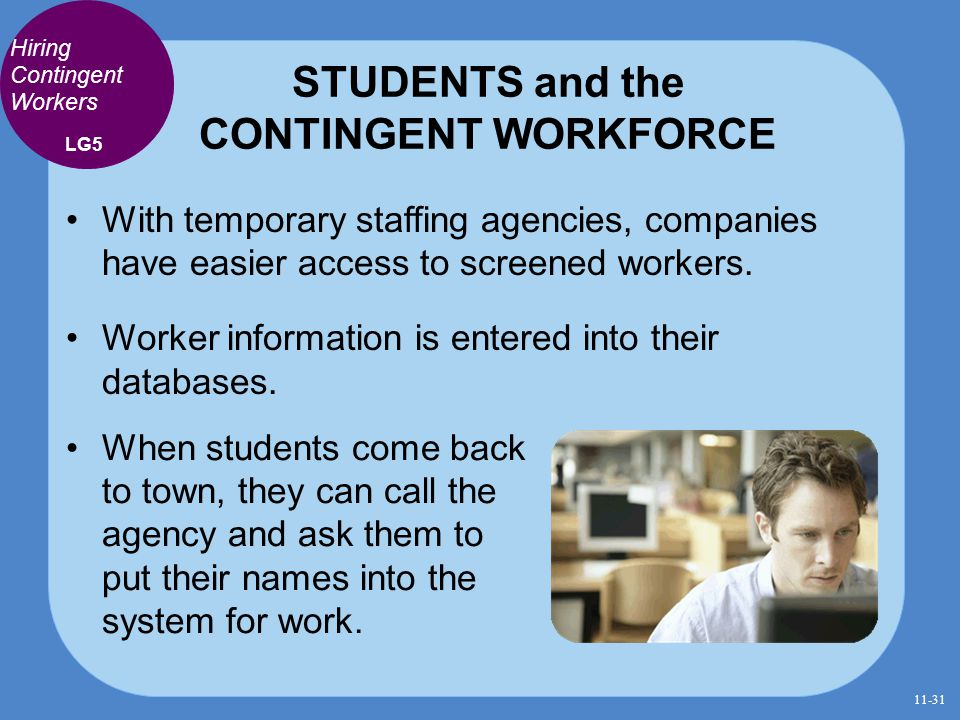 STUDENTS and the CONTINGENT WORKFORCE