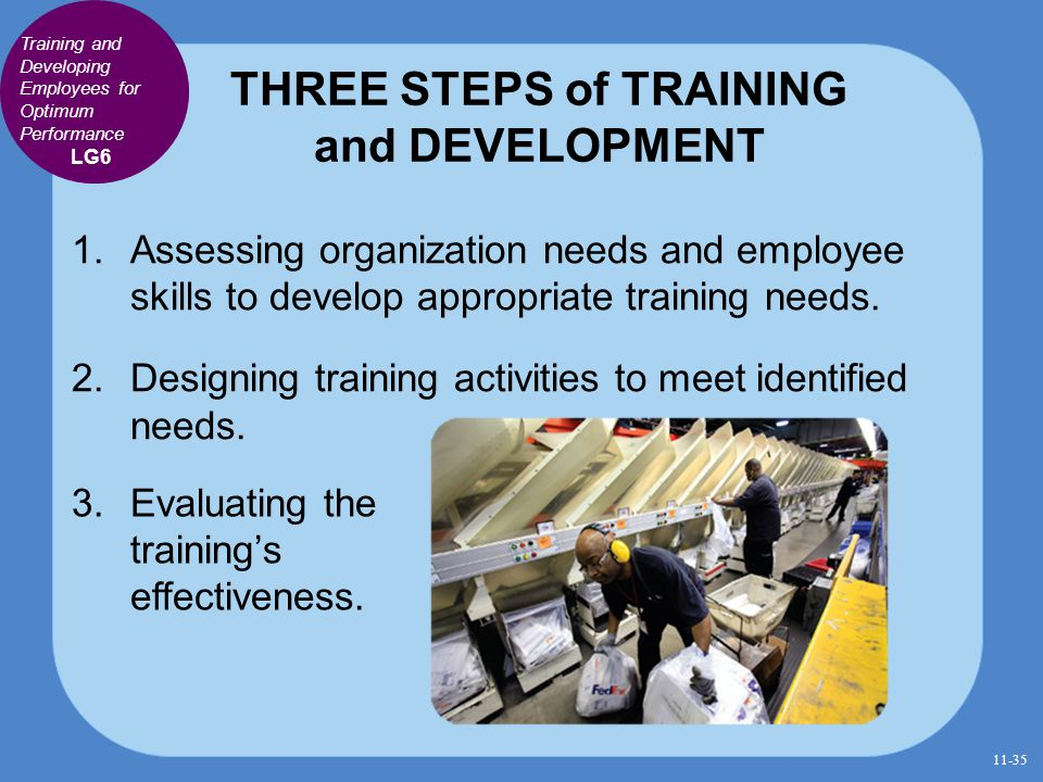 THREE STEPS of TRAINING and DEVELOPMENT