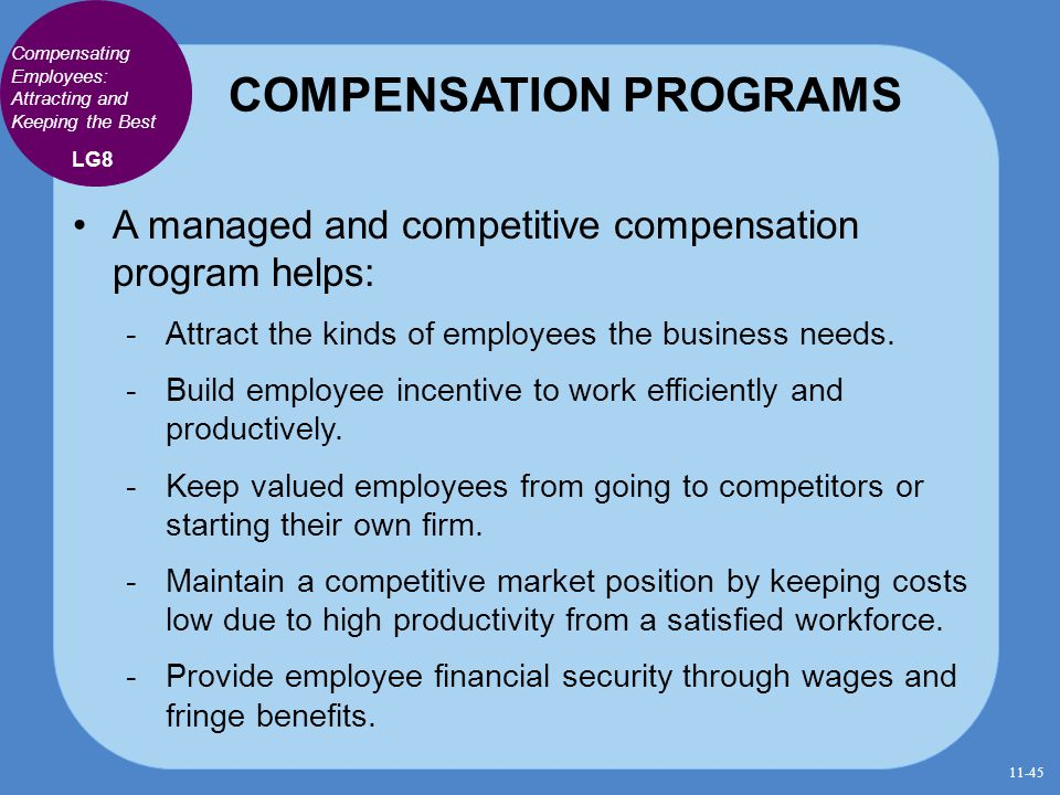 COMPENSATION PROGRAMS