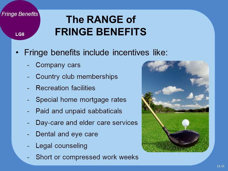 The RANGE of FRINGE BENEFITS