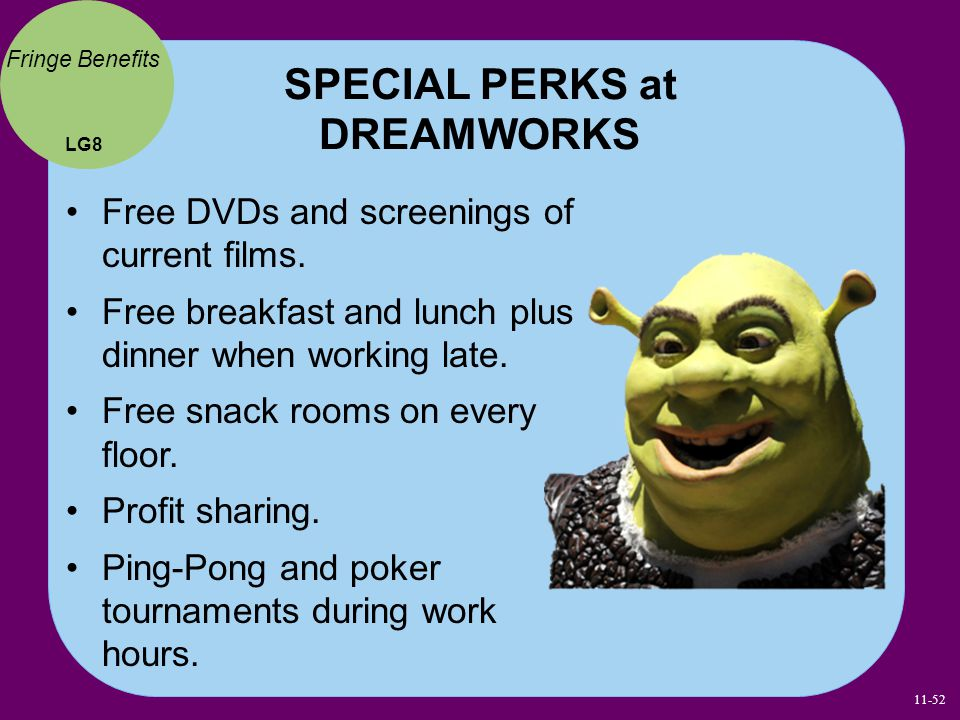 SPECIAL PERKS at DREAMWORKS