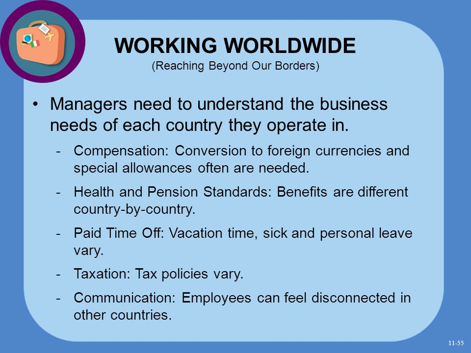 WORKING WORLDWIDE (Reaching Beyond Our Borders)