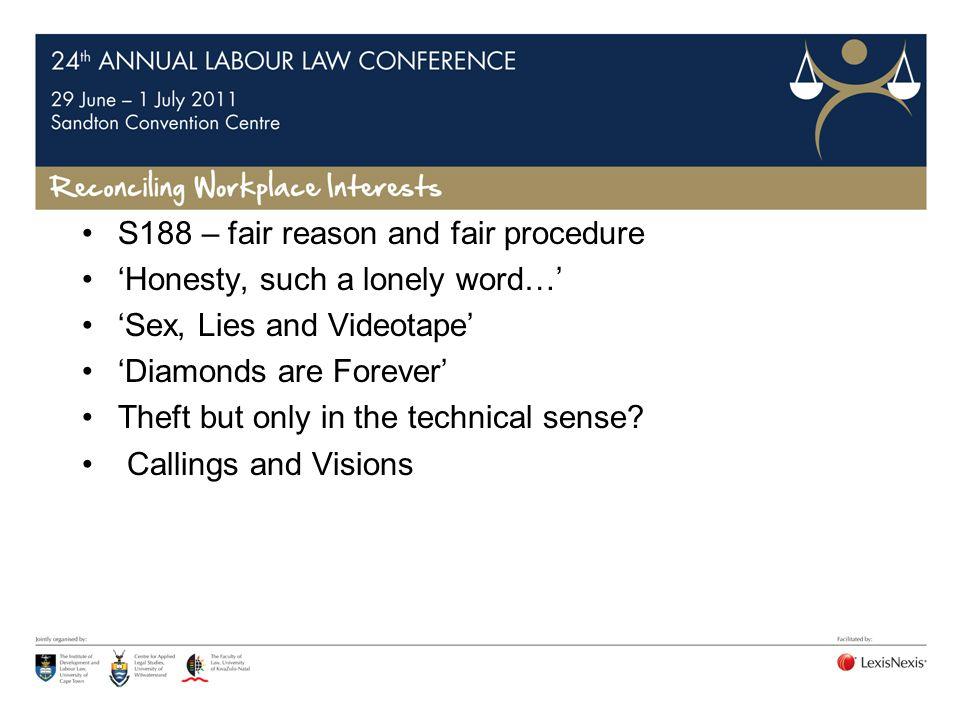S188 – fair reason and fair procedure