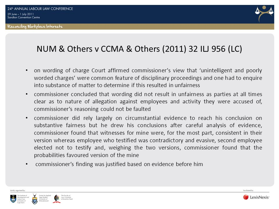 NUM & Others v CCMA & Others (2011) 32 ILJ 956 (LC)