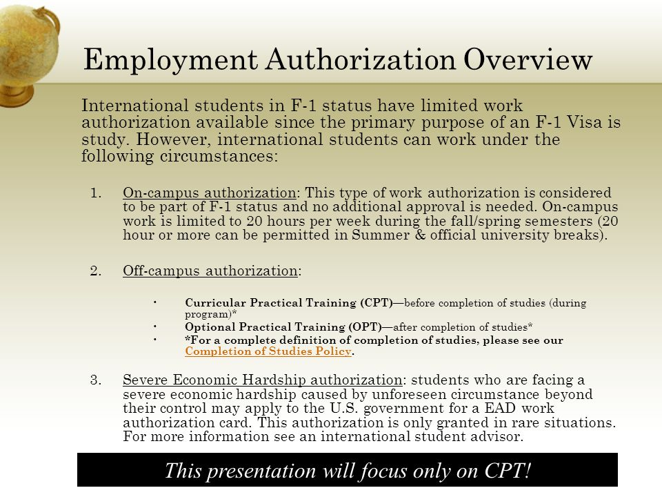 Employment Authorization Overview