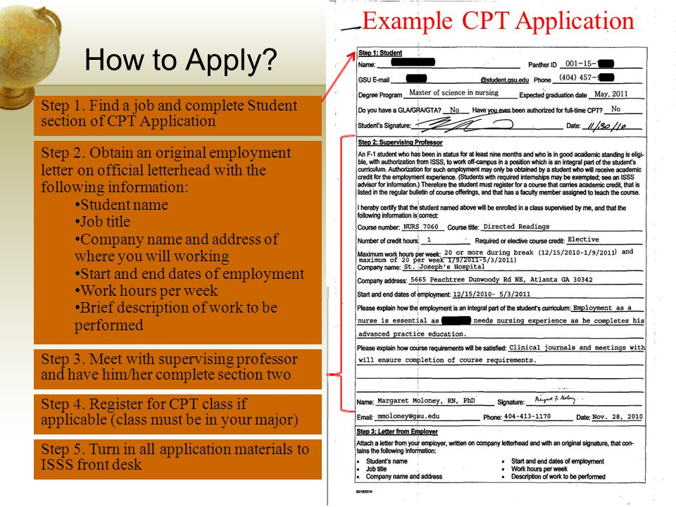 How to Apply Example CPT Application