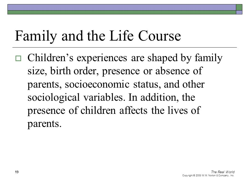 Family and the Life Course