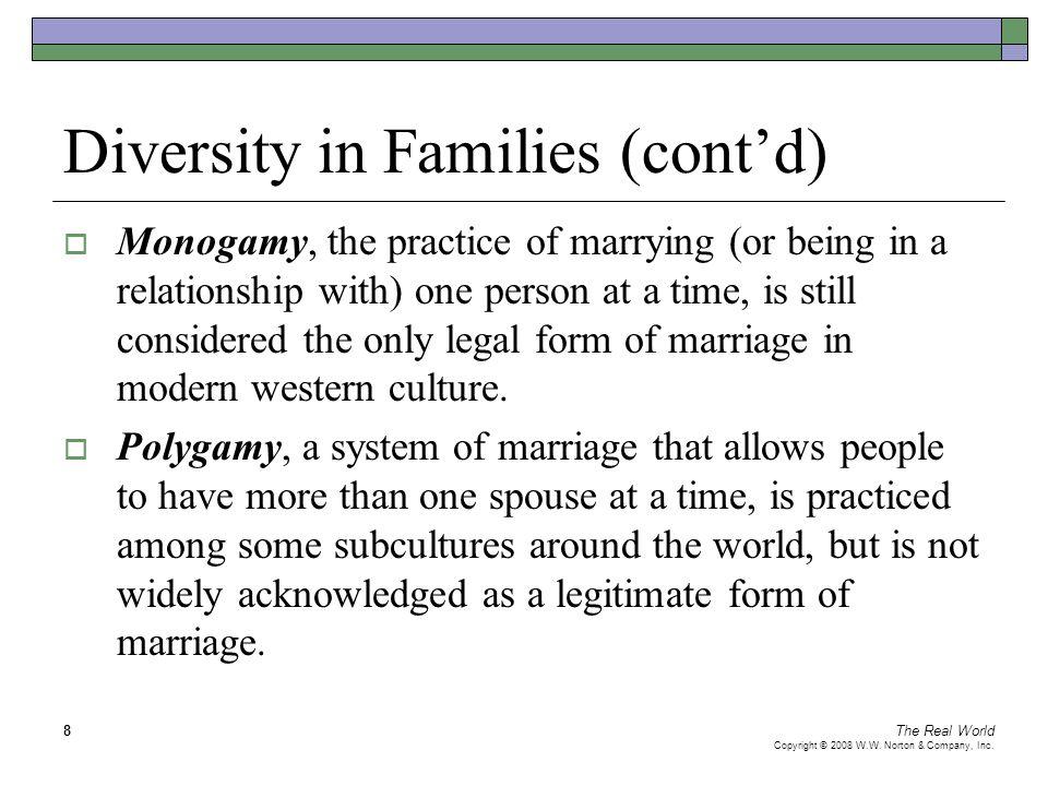 Diversity in Families (cont'd)