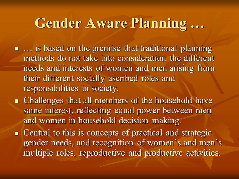Gender Aware Planning …
