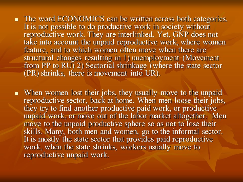 The word ECONOMICS can be written across both categories