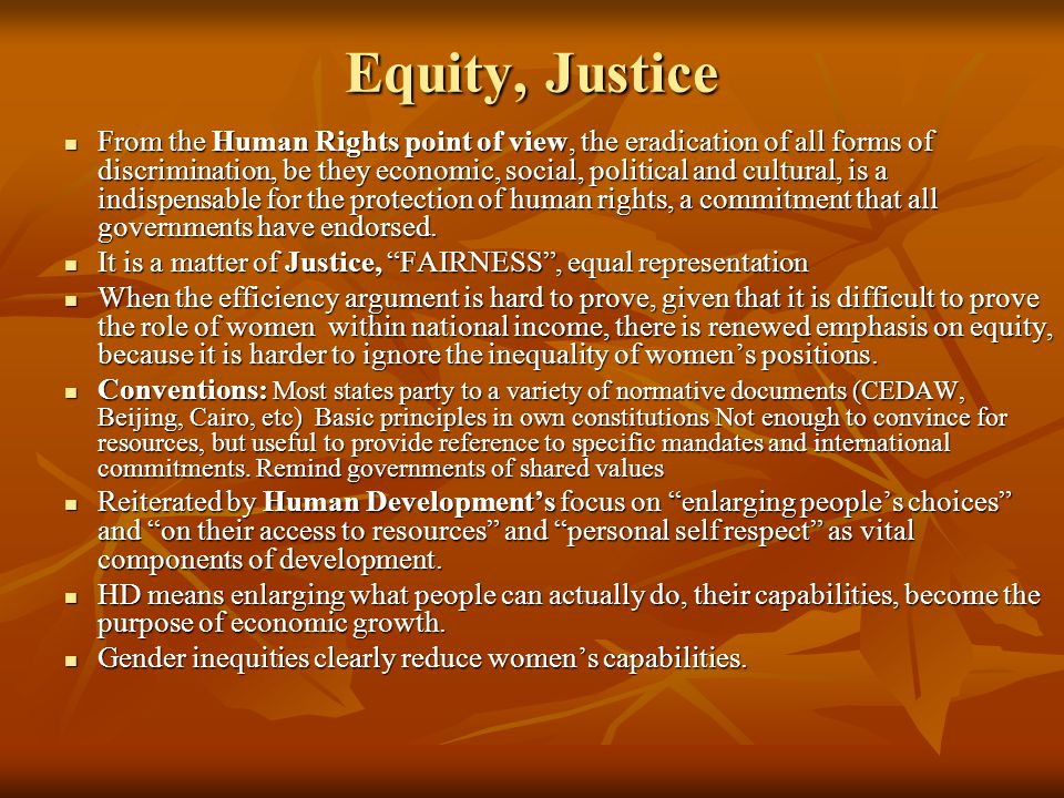 Equity, Justice