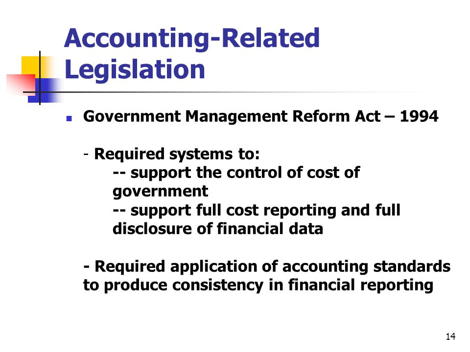 Accounting-Related Legislation