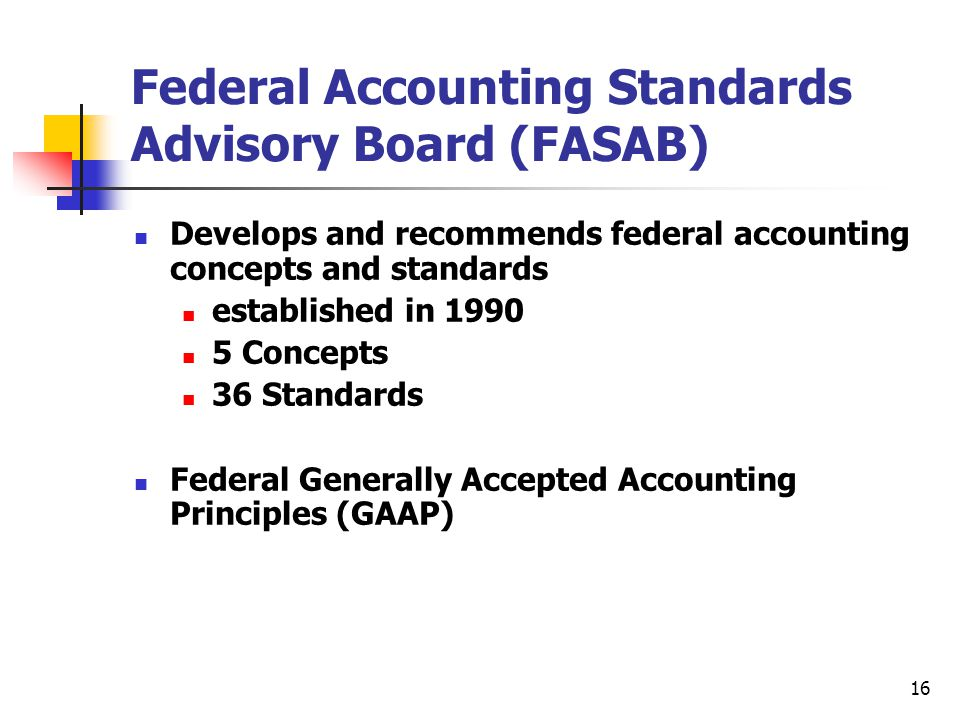 Federal Accounting Standards Advisory Board (FASAB)