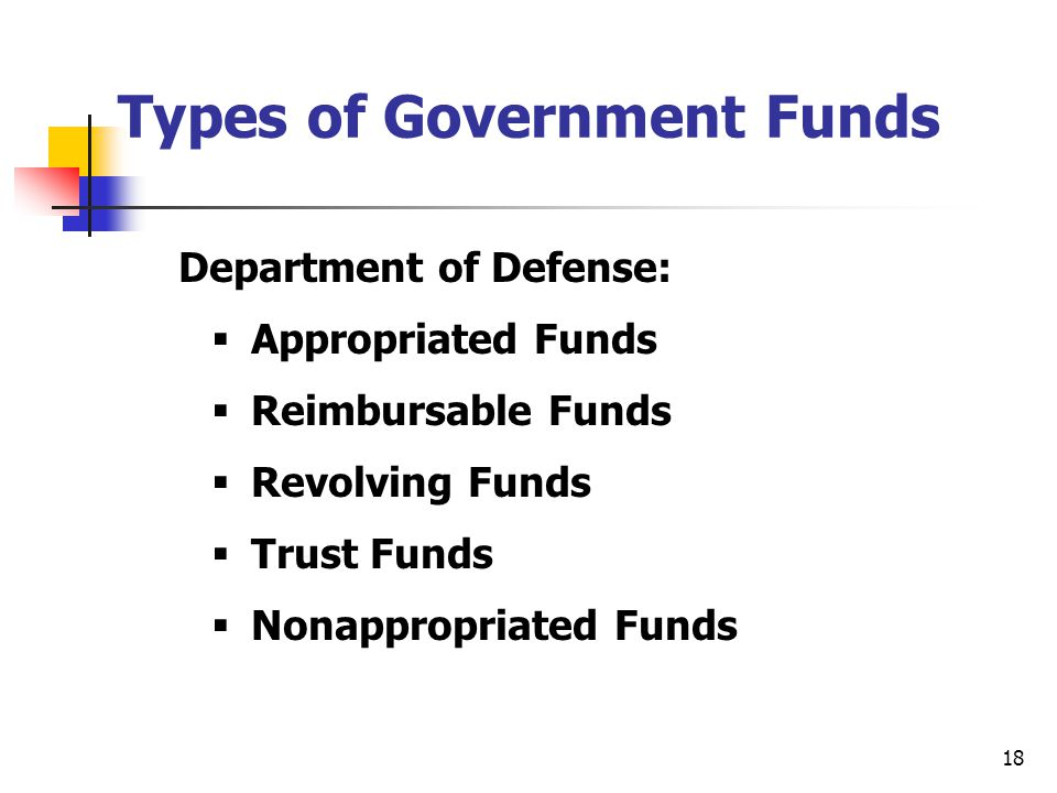 Types of Government Funds