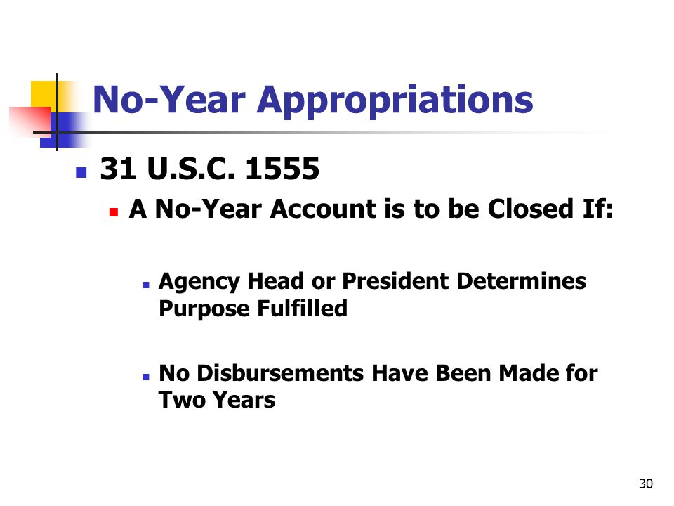No-Year Appropriations