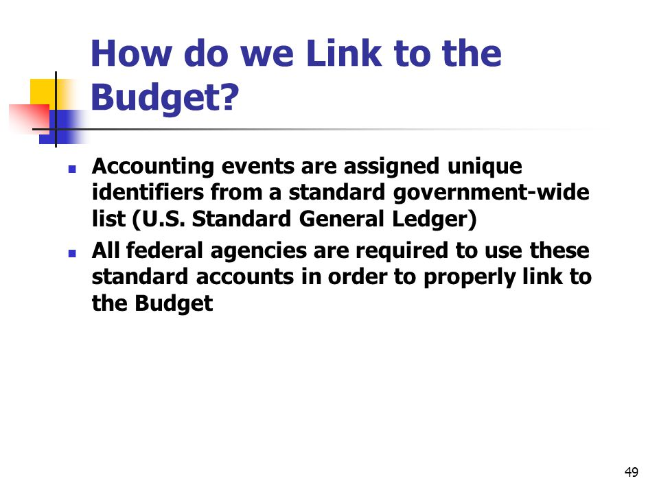 How do we Link to the Budget