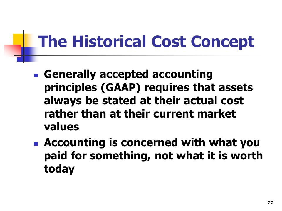 The Historical Cost Concept