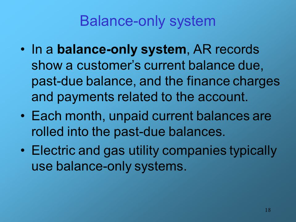 Balance-only system