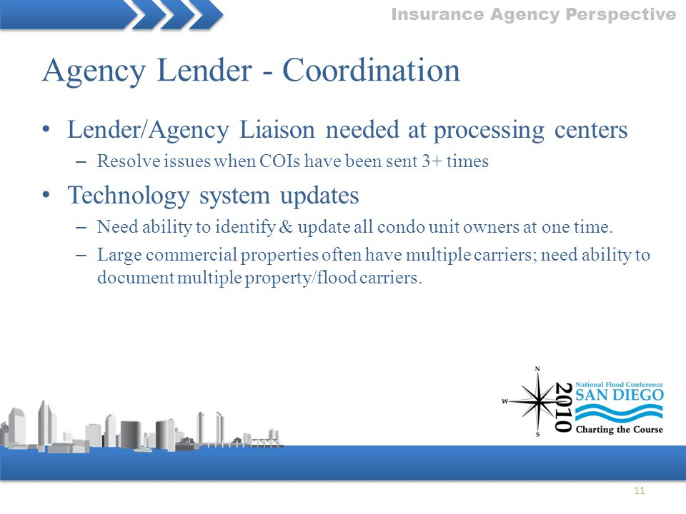 Agency Lender - Coordination