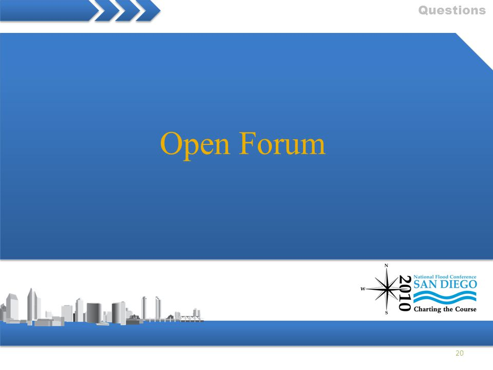 Questions Open Forum 20
