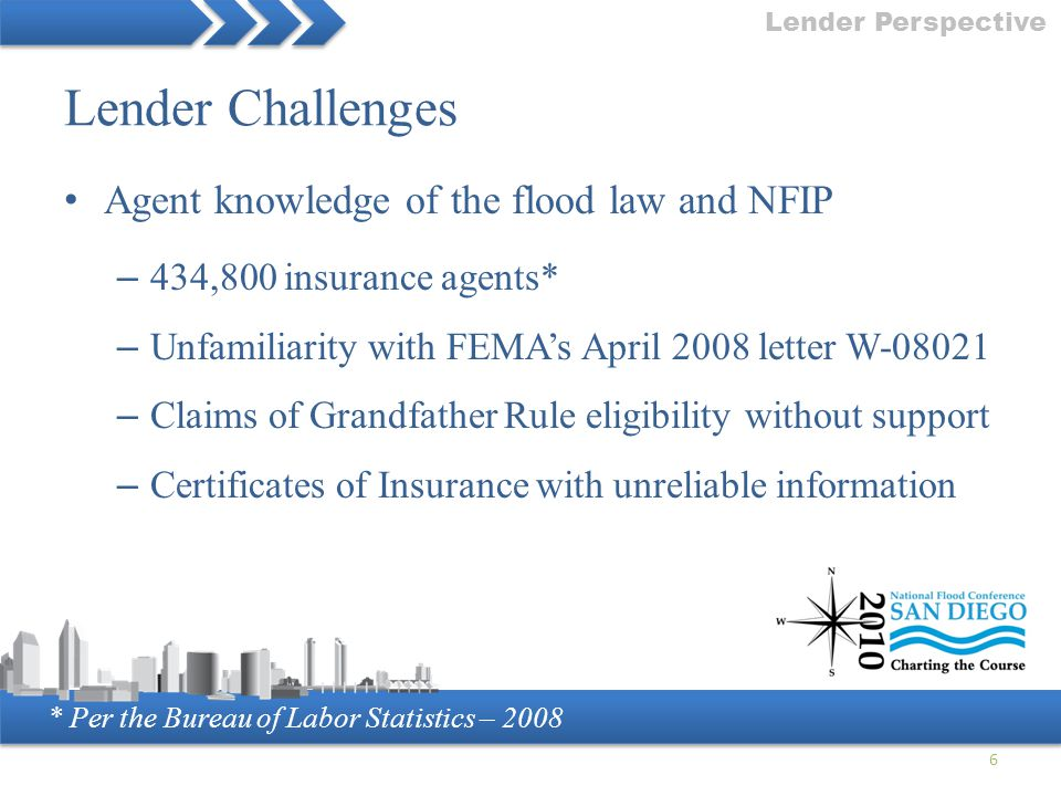 Lender Challenges Agent knowledge of the flood law and NFIP