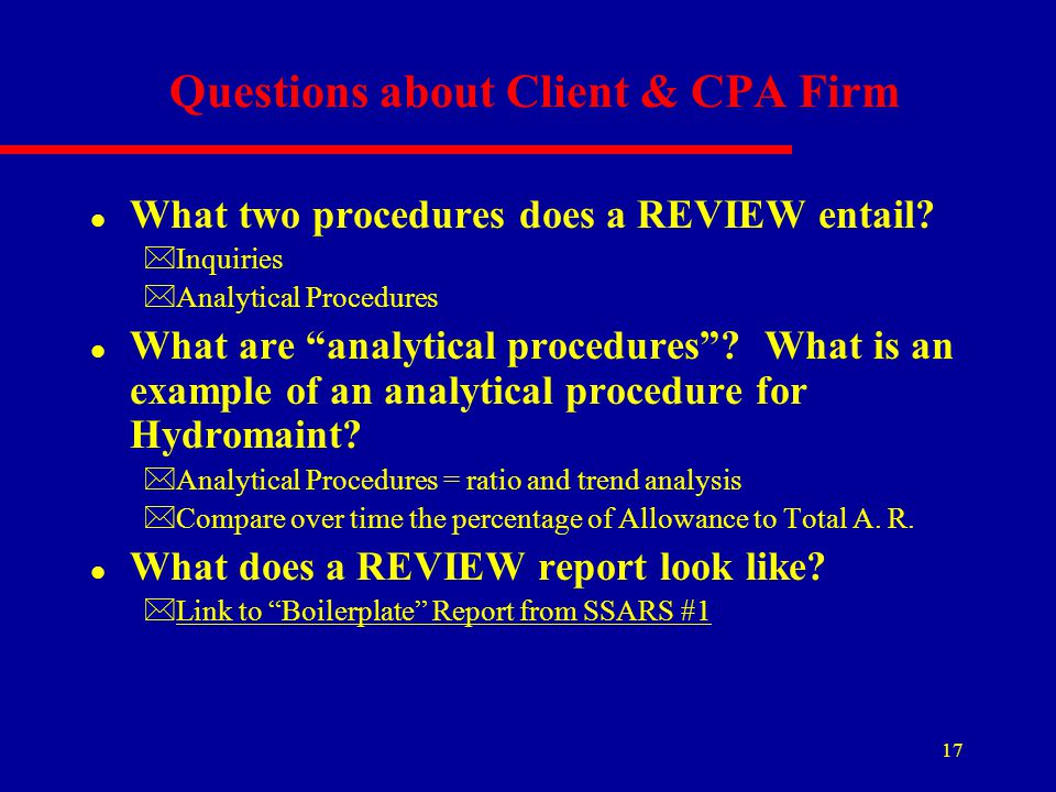 Questions about Client & CPA Firm