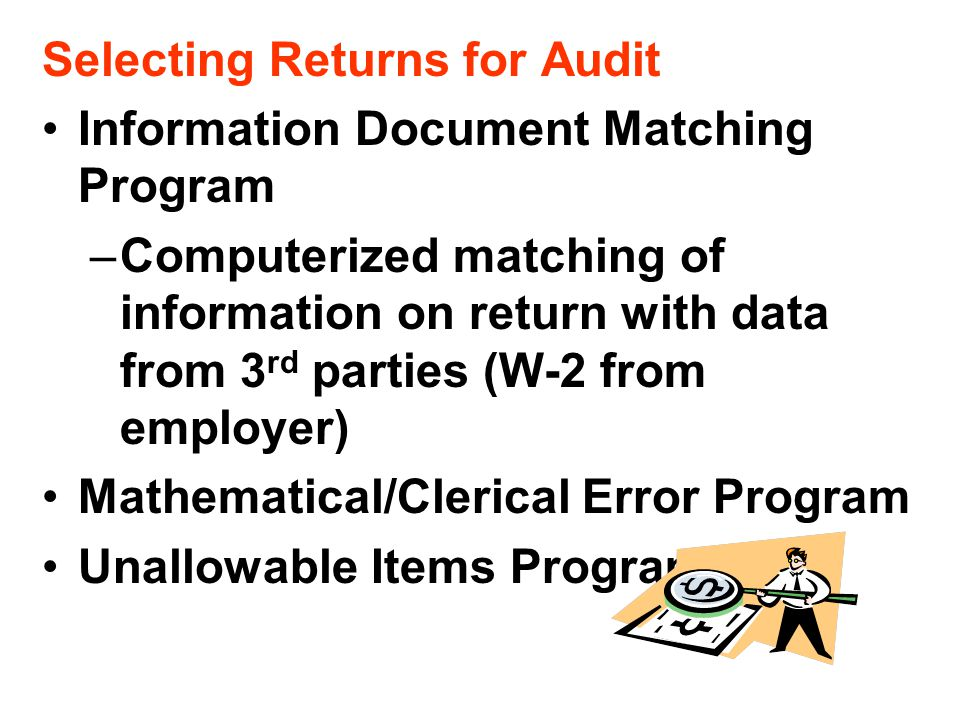 Selecting Returns for Audit