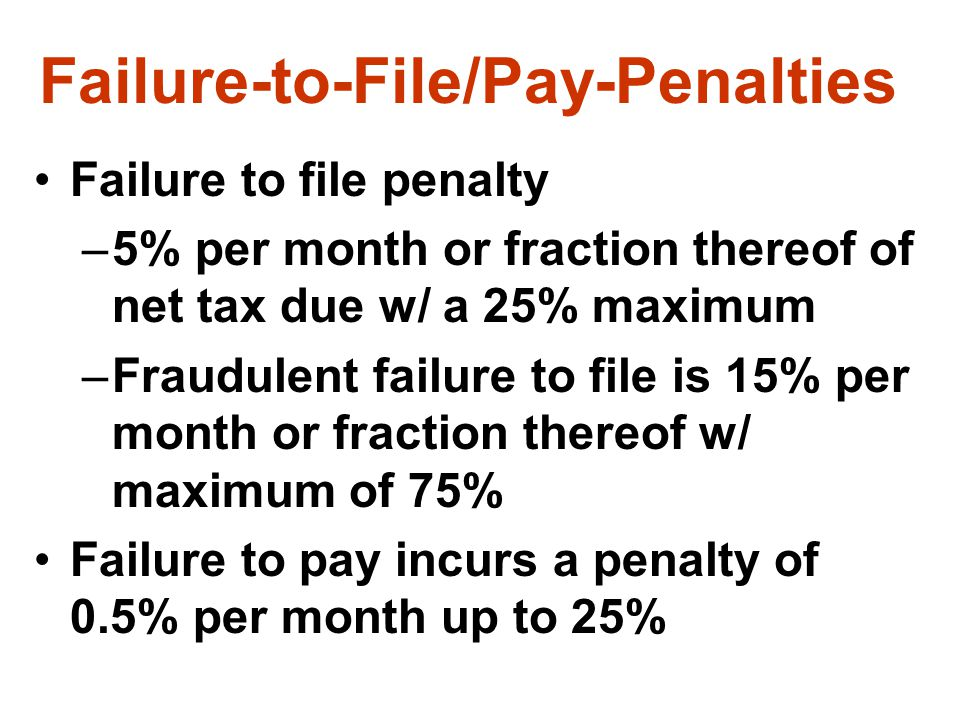 Failure-to-File/Pay-Penalties