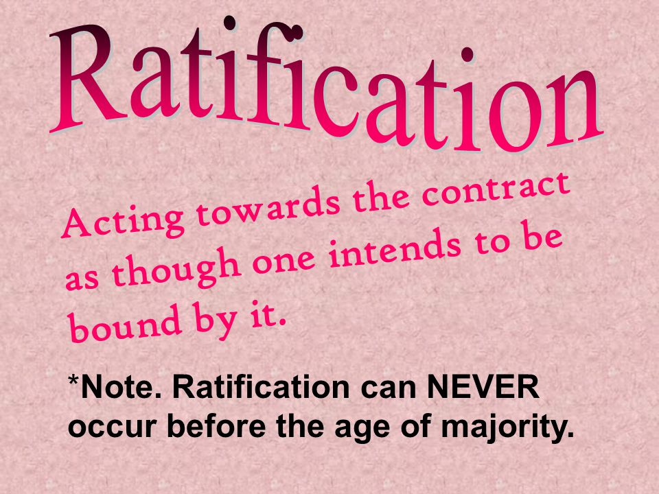 Acting towards the contract as though one intends to be bound by it.