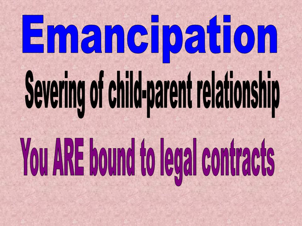 Severing of child-parent relationship