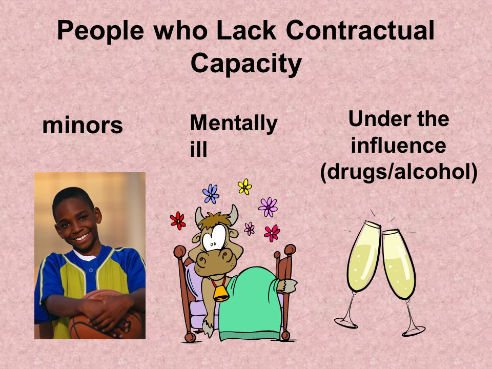 People who Lack Contractual Capacity