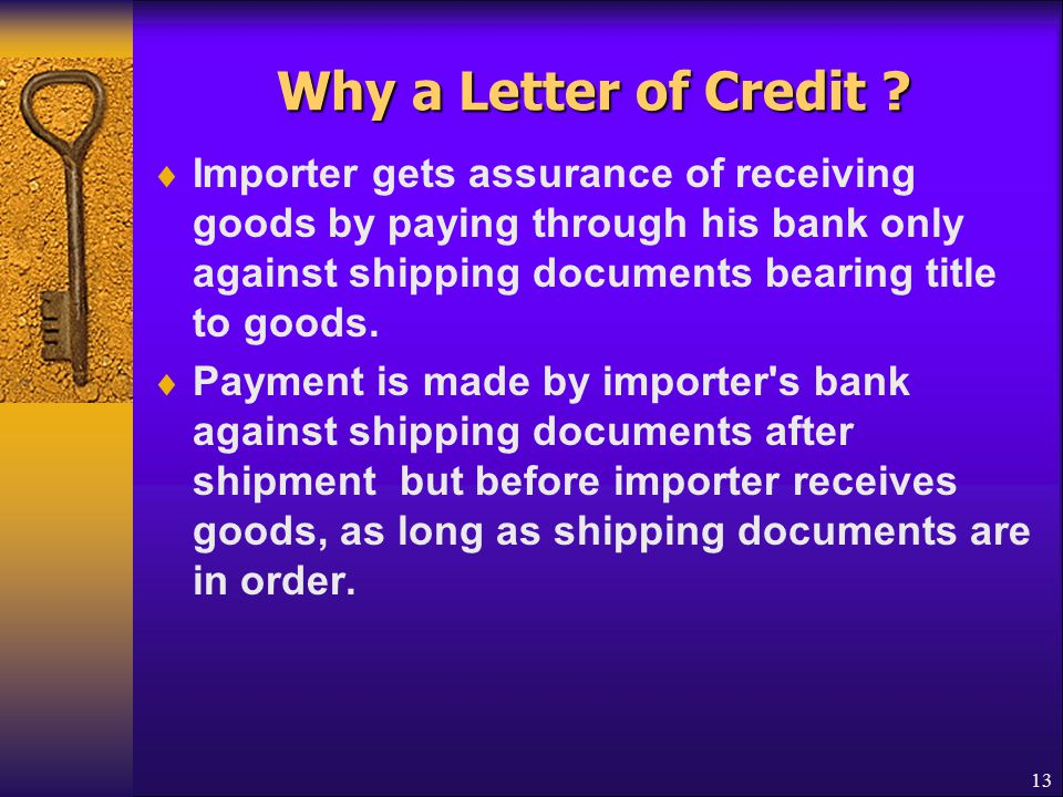 Why a Letter of Credit