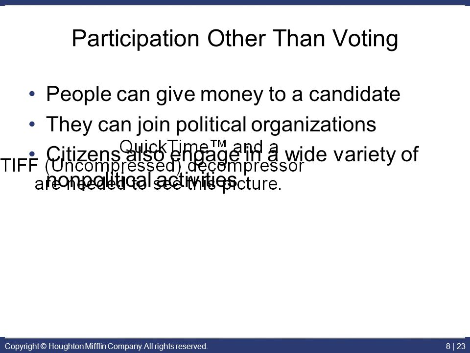 Participation Other Than Voting
