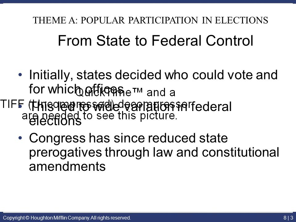 From State to Federal Control