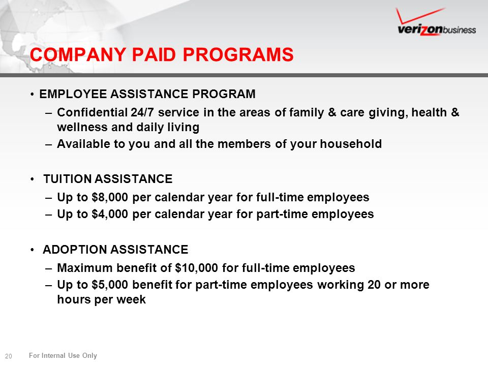 COMPANY PAID PROGRAMS EMPLOYEE ASSISTANCE PROGRAM