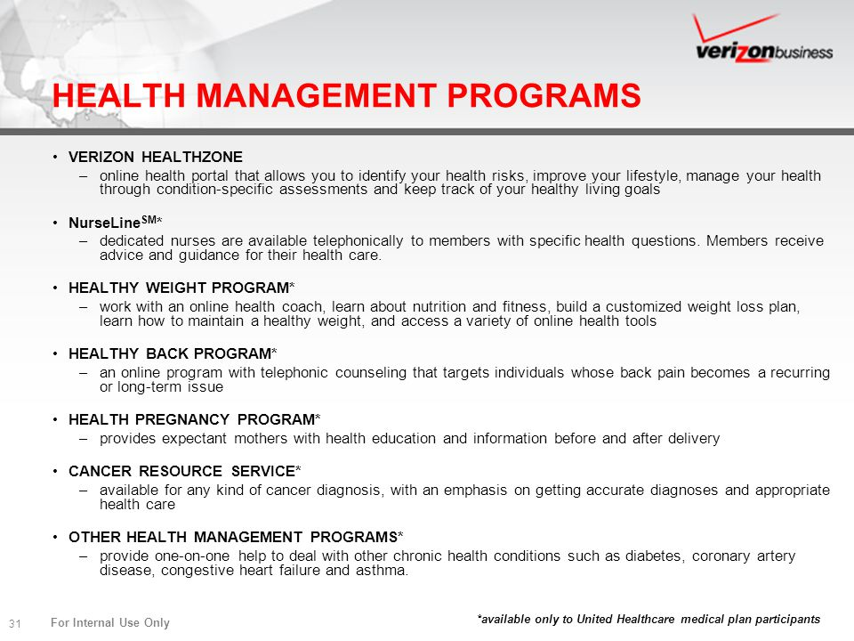 HEALTH MANAGEMENT PROGRAMS